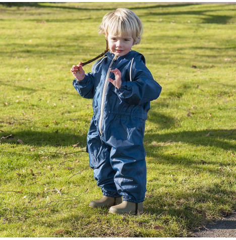 Hippychick Children's Waterproof All In One Suit (12 - 18 months) - Navy Sand