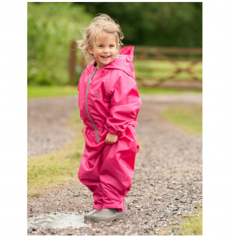 Hippychick Children's Waterproof All In One Packasuit (5-6 years) - Pink