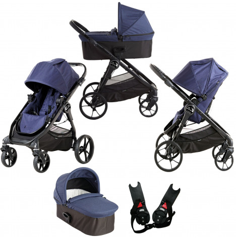 Baby Jogger City Premier 2 in 1 Pushchair with Carrycot - Indigo Blue