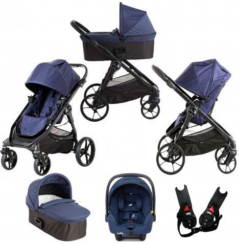 Baby Jogger City Premier (i-Snug) Travel System with Carrycot - Indigo Blue