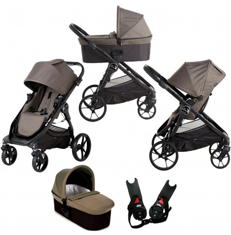 Baby Jogger City Premier 2 in 1 Pushchair with Carrycot - Taupe