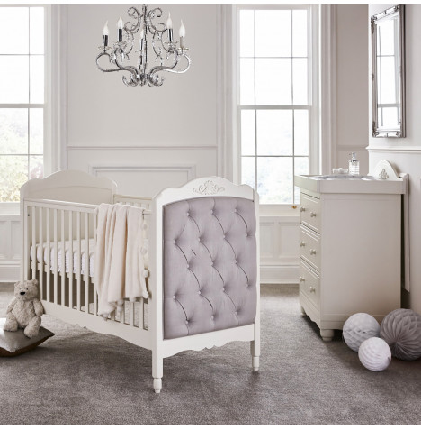 Mee-Go Epernay Cot Bed 3 Piece Nursery Furniture Set - White