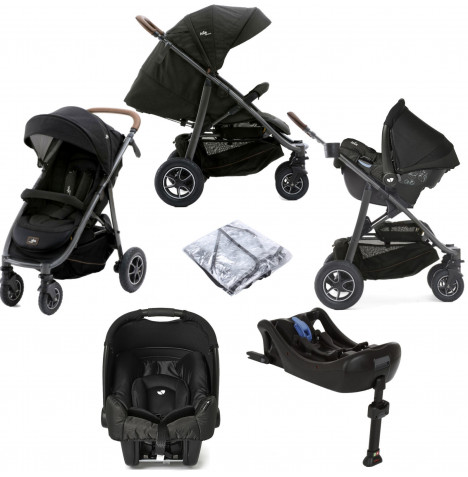 Joie Limited Edition MyTrax Flex (Gemm) Travel System with ISOFIX Base - Signature Noir