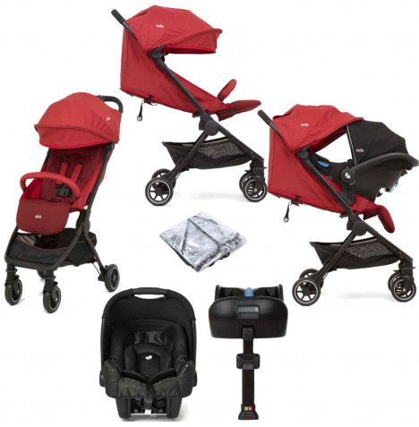 Joie Pact (Gemm) Travel System with ISOFIX Base - Cranberry