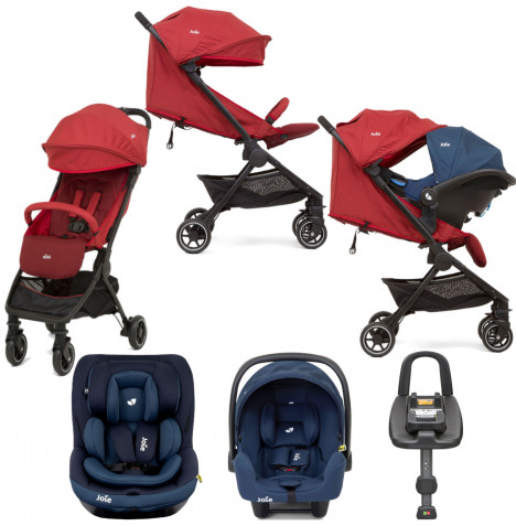 Joie Pact (i-Venture & i-Snug) Travel System with ISOFIX Base Bundle - Cranberry
