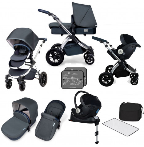 Ickle bubba SE Stomp V4 All In One (Mercury) i-Size Travel System & Isofix Base - Blueberry