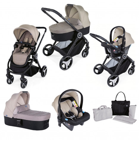 Chicco Trio Best Friend 3-in-1 Travel System and Organiser Bag - Beige