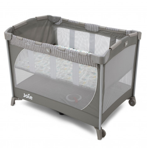 Joie Mothercare Exclusive Commuter Travel Cot with Bassinet - Woodland Mint Grey