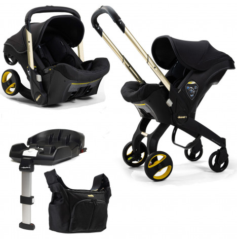 Doona Infant Car Seat / Stroller With ISOFIX Base *Limited Edition* - Black and Gold