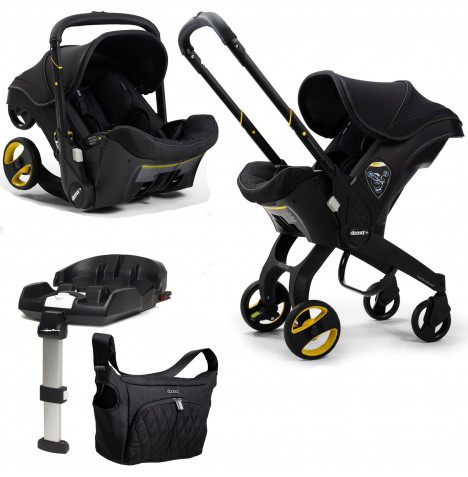 Doona Infant Car Seat / Stroller *Limited Edition* with ISOFIX Base - Midnight Black