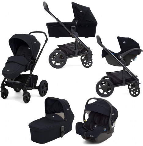 Joie Chrome DLX (i-Gemm) Travel System with Carrycot (inc Footmuff) - Navy Blazer