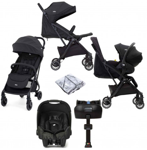 Joie Tourist (Gemm) Travel System with ISOFIX Base - Coal