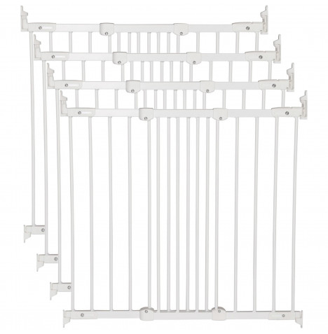 BabyDan Super Flexi Fit Extending Safety Gate (Pack of 4) - White (67 - 106cm)