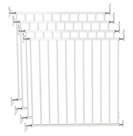 BabyDan No Trip Baby Safety Gate (Pack of 4) - White Metal (72 - 78.5cm)