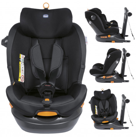 Chicco Around U Group 0+/1 i-Size 360 Spin ISOFIX Baby Car Seat - Jet Black