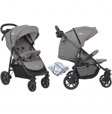 Joie Litetrax 4 Wheel Pushchair Stroller - Grey Flannel
