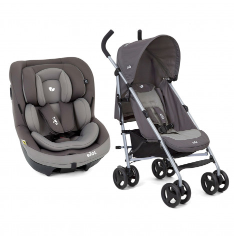 Joie i-Venture Group 0+/1 Car Seat with Nitro Pushchair Stroller Bundle - Dark Pewter