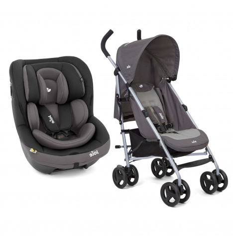 Joie i-Venture Group 0+/1 Car Seat with Nitro Pushchair Stroller Bundle - Ember / Dark Pewter