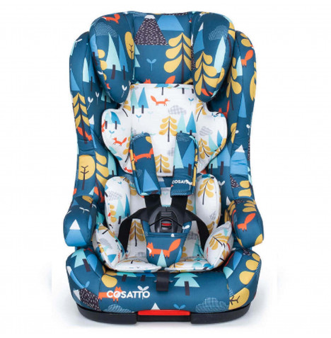 Cosatto Hubbub 5 Point Plus Group 123 ISOFIX Car Seat - Fox Tale Blue