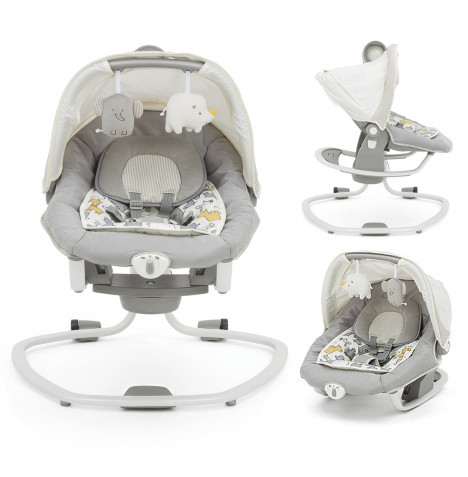 Joie Mothercare Haven Serina Deluxe 3in1 Musical Swing / Rocker - Urban Safari