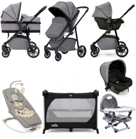 Ickle Bubba Moon Everything You Need 3 in 1 Travel System Bundle - Grey