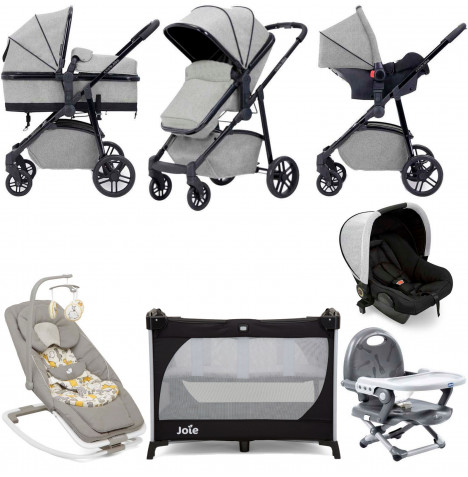 Ickle Bubba Moon Everything You Need 3 in 1 Travel System Bundle - Light Grey