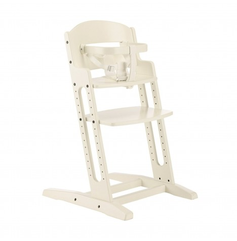 Babydan Danchair Wooden Highchair - White