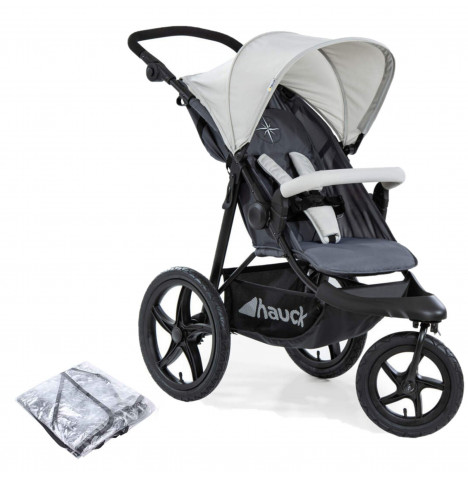 Hauck Runner 3 Wheel Pushchair - Silver / Grey