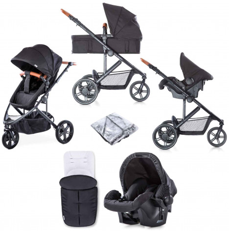 Hauck Pacific 3 Shop n Drive Travel System - Caviar