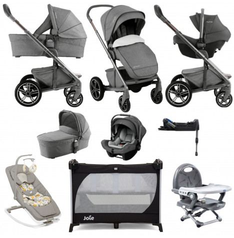 Nuna Mixx (Pipa Lite) Everything You Need Limited Edition Travel System - Threaded Grey