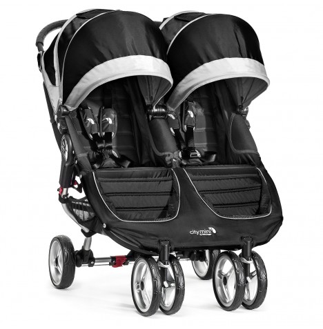 New Baby Jogger City Mini Double Stroller - Black