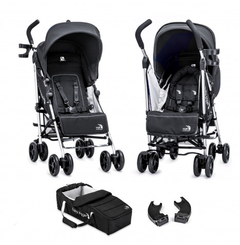 Baby Jogger Vue Pushchair with Carrycot and Adapters  - Black