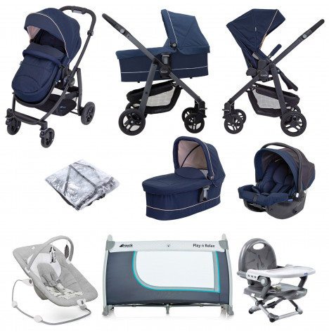 Graco Evo Trio (Snug Essentials i-Size Car Seat) Everything You Need Travel System With Carrycot Bundle - Eclipse