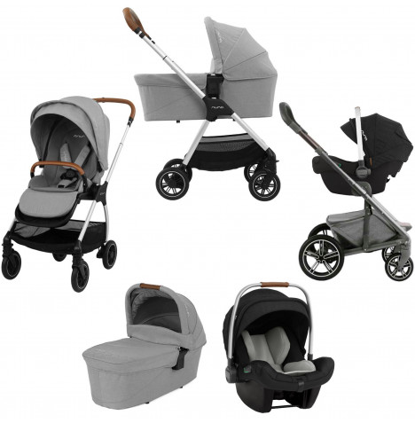 Nuna Triv (Pipa Next) Travel System & Carrycot - Frost Grey