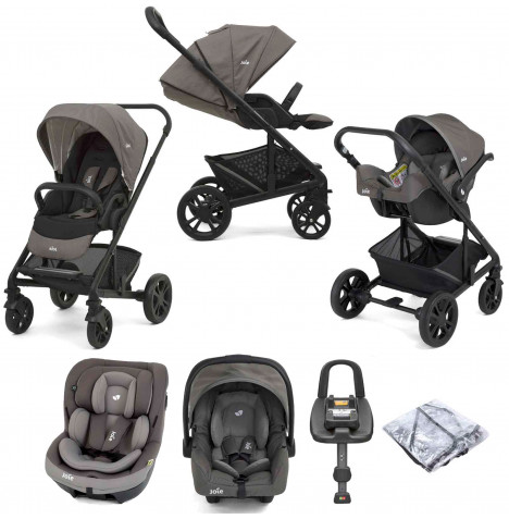 Joie Chrome (i-Venture & Gemm) Travel System with ISOFIX Base - Grey