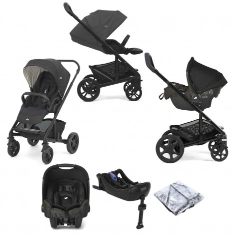 Joie Chrome (Gemm) Travel System With ISOFIX Base - Pavement / Ember