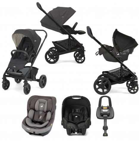 Joie Chrome (i-Venture & Gemm) Travel System with ISOFIX Base - Pavement / Ember