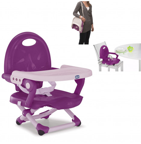 Chicco Pocket Snack Portable Highchair Booster Seat - Violetta
