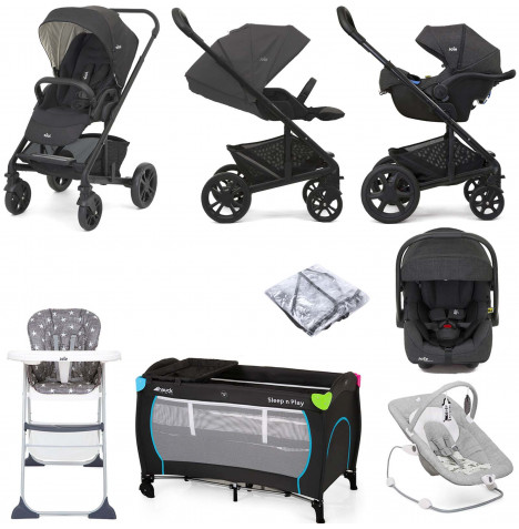 Joie Chrome (i-Gemm 2) Everything You Need Travel System Bundle - Pavement