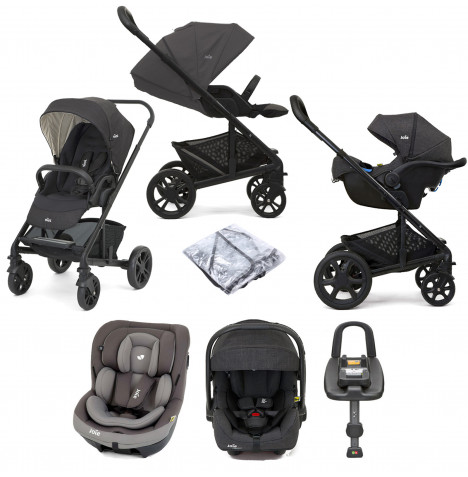 Joie Chrome (i-Venture & i-Gemm 2) Travel System with ISOFIX Base - Pavement / Dark Pewter
