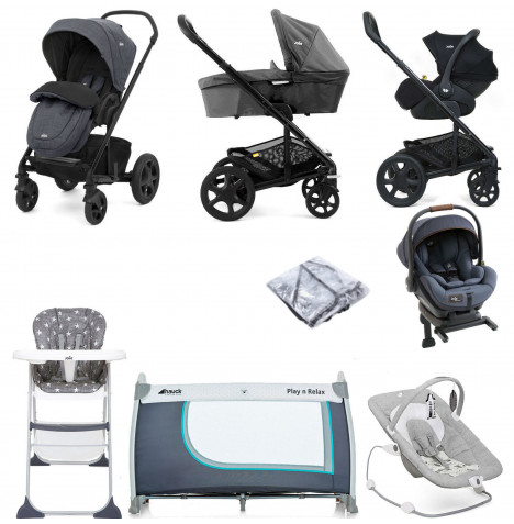 Joie Mothercare Chrome DLX Everything You Need (i-Level) Travel System (With Carrycot) Bundle - Pavement