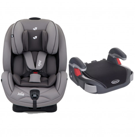 Joie Stages Group 0+,1,2 Car Seat with Free Graco Booster Basic Group 2/3 Car Seat