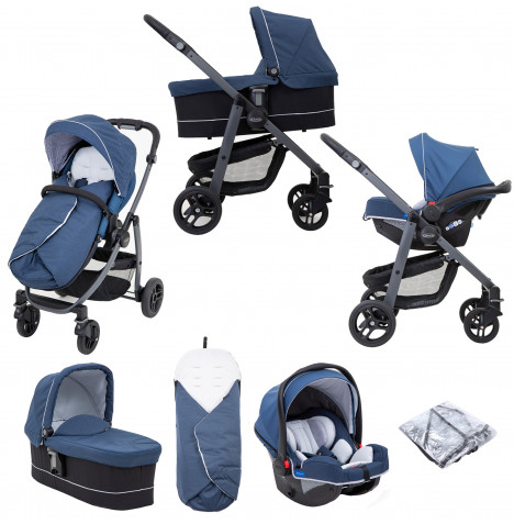 Graco Evo Avant (SnugRide Car Seat) Travel System - Ink