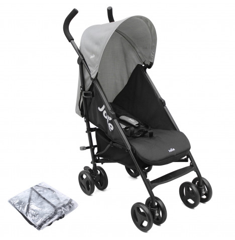 Joie Nitro Pushchair Stroller with Raincover - Two Tone Black