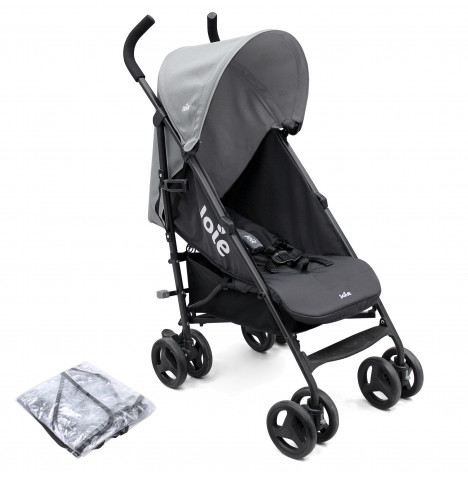 Joie Nitro Pushchair Stroller with Raincover - Greystone