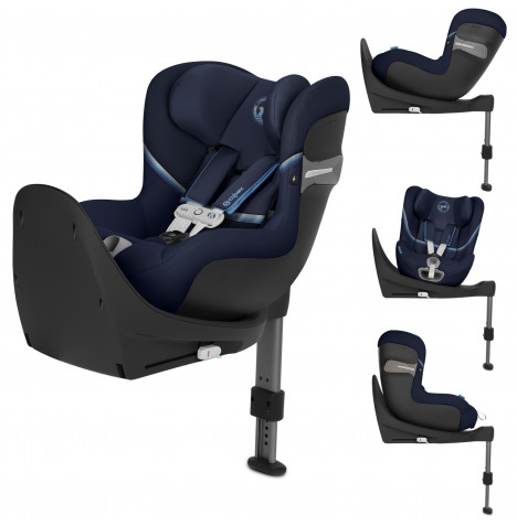 Cybex Sirona S i-Size 360 Spin ISOFIX Car Seat (inc Base) With Sensorsafe - Navy Blue