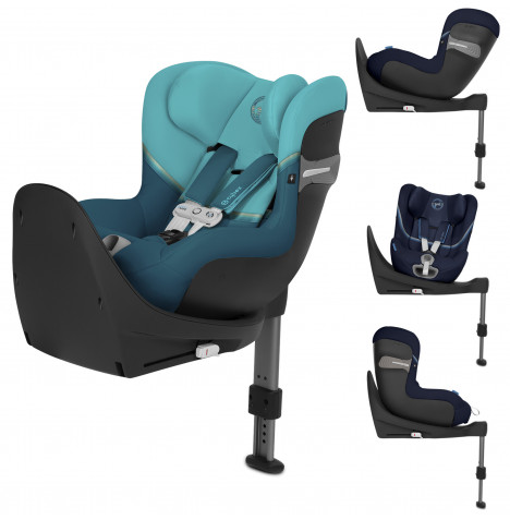 Cybex Sirona S i-Size 360 Spin ISOFIX Car Seat (inc Base) With Sensorsafe - River Blue