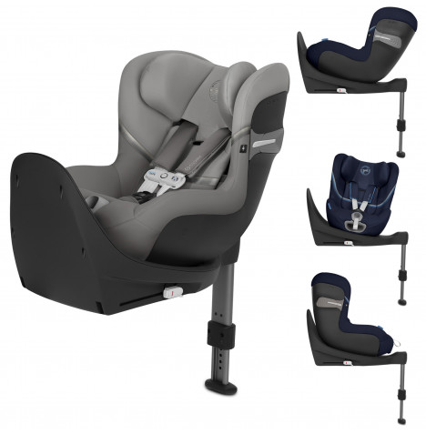 Cybex Sirona S i-Size 360 Spin ISOFIX Car Seat (inc Base) With Sensorsafe - Soho Grey