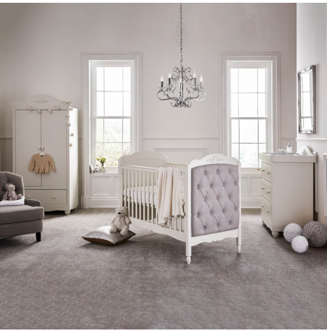 Mee-Go Epernay Cot Bed 4 Piece Nursery Furniture Set - White