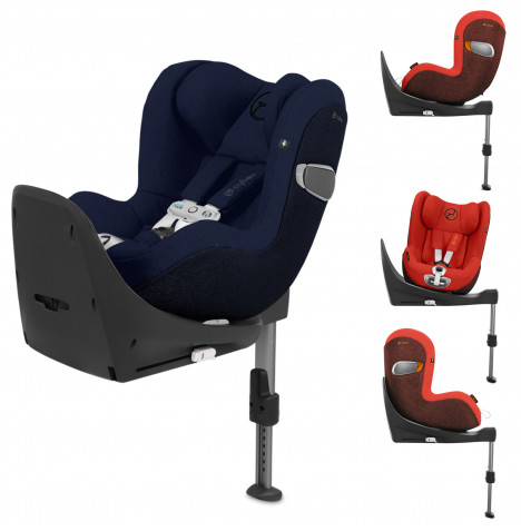 Cybex Sirona Z Platinum i-Size 360 Spin Car Seat With Cybex Base Z Platinum ISOFIX Car Seat Safety Base - Midnight Blue
